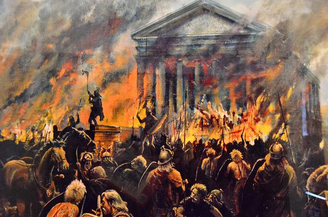 ?Восставшие бритты сжигают римский город - Восстание Боудикки | Военно-исторический портал Warspot.ru