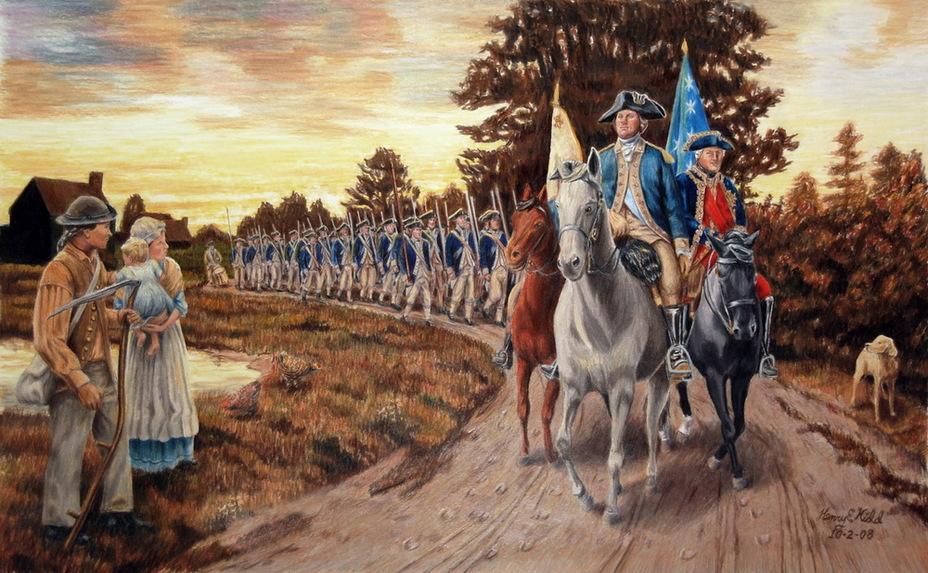 Армия Рошамбо и Вашингтона выдвинулась в наступление - Французский подарок американским патриотам | Военно-исторический портал Warspot.ru