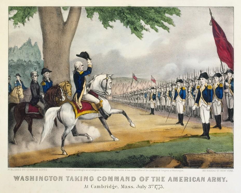 Джордж Вашингтон получает командование над американской армией - Французский подарок американским патриотам | Военно-исторический портал Warspot.ru
