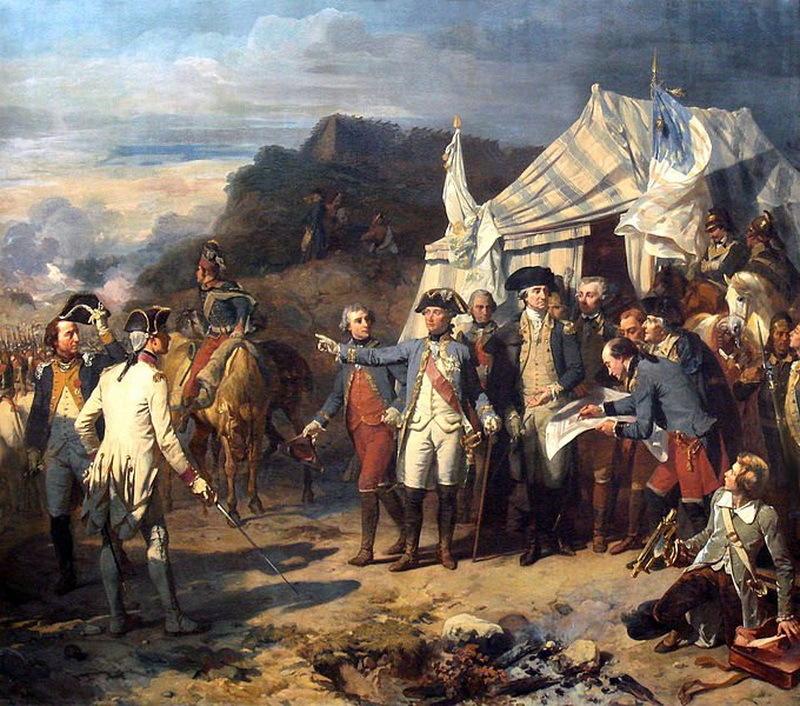 Французы и американцы под Йорктауном - Французский подарок американским патриотам | Военно-исторический портал Warspot.ru