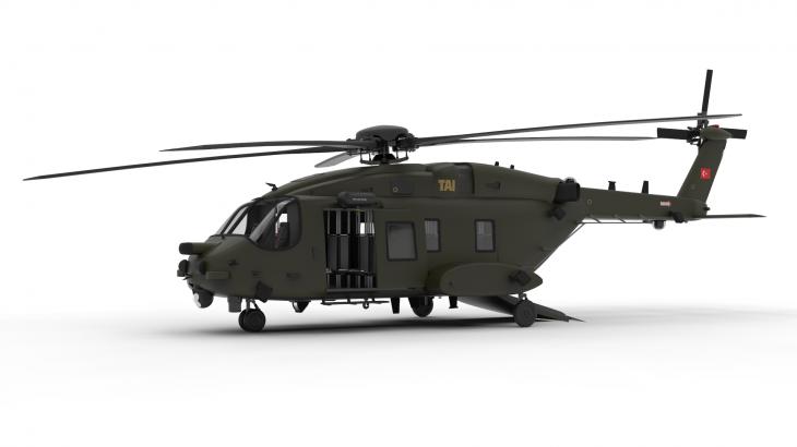Компьютерная модель вертолёта T625. tai.com.tr - У Турции будет свой боевой вертолёт | Военно-исторический портал Warspot.ru
