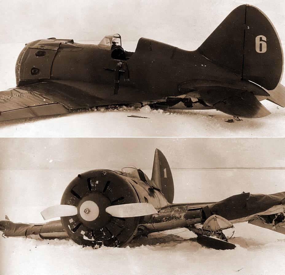 Издержки интенсивной учёбы: И-16 тип 10 из 4-й эскадрильи 29-го ИАП, выполнившие вынужденные посадки зимой 1941 года - Первая победа первого гвардейского полка | Военно-исторический портал Warspot.ru