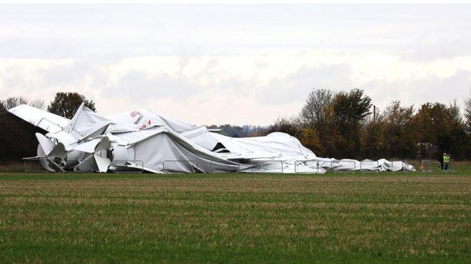 Дирижабль Airlander 10 после аварии. bbc.com - Военные неудачи ушедшего года | Военно-исторический портал Warspot.ru