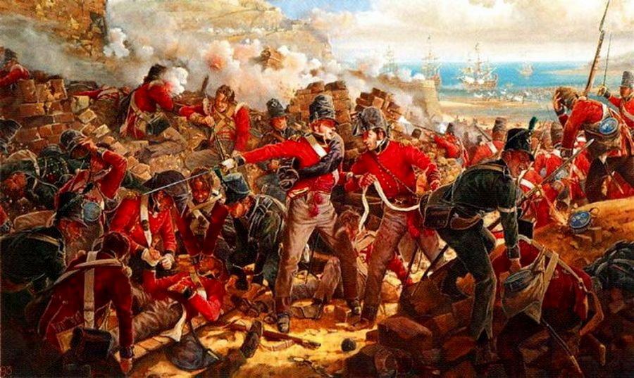 Британские солдаты в бою во время Наполеоновских войн - Цена офицера | Военно-исторический портал Warspot.ru