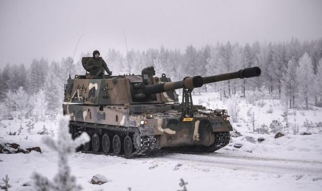 Гаубица K9 Thunder во время испытаний в Финляндии, 2016 год. imgur.com - Южнокорейский «Гром» уже в Финляндии | Военно-исторический портал Warspot.ru