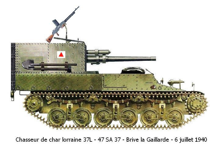 ​САУ с французской 47-мм пушкой SA37 Источник: http://www.aviarmor.net/tww2/photo/france/lorraine_l37/c1_lorrain_37l_47mm_1.jpg - От французского бронетранспортера до немецкой САУ | Военно-исторический портал Warspot.ru