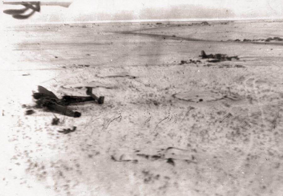 Немецкая аэрофотосъёмка авиабазы в Тацинской. Снимок сделан 26 декабря 1942 года Источник – uglich-jj.livejournal.com - Рейд генерала Баданова | Военно-исторический портал Warspot.ru