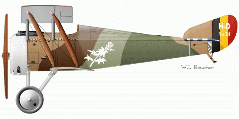 Один из принадлежавших Коппенсу «Анрио» с хвостовым номером HD24 (http://www.wwiaviation.com)