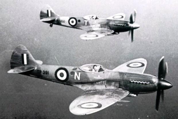 Египетские самолёты Spitfire в небе Палестины Источник: spitfiresite.com - Война за независимость Израиля: Схватка с Египтом | Военно-исторический портал Warspot.ru