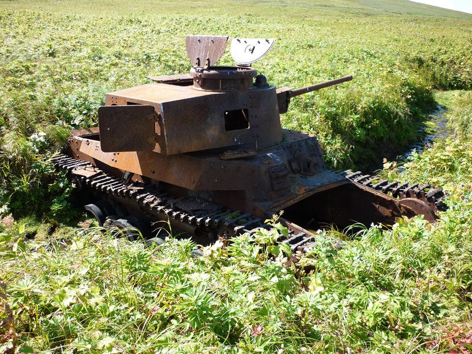 До недавнего времени считалось, что это танк командира 11-го танкового полка полковника Икеда Суэо. Однако в 2013 году возле танка были найдены останки сержанта Ито Таичи, который входил в состав экипажа Комия Канаве, командира 6-й роты - Десантники против танков:бойнаострове Шумшу | Военно-исторический портал Warspot.ru