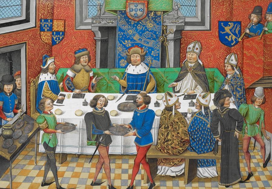 Картинка рыцарь обедает