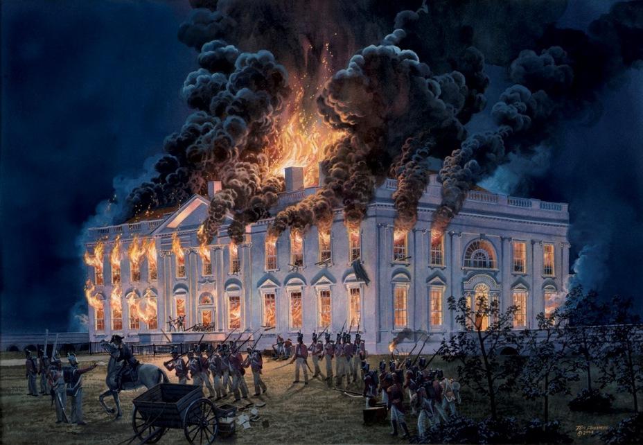 Пожар в Белом доме - Взятие Вашингтона | Военно-исторический портал Warspot.ru