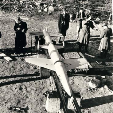 Крылатая ракета RB 302 на пусковом устройстве в Карлсборге. robotmuseum.se