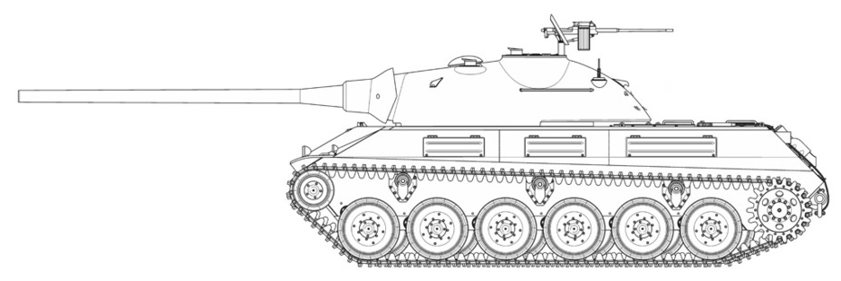 Реконструкция внешнего вида Škoda T 50 в конфигурации 1949 года - Неудачная история создания удачного танка