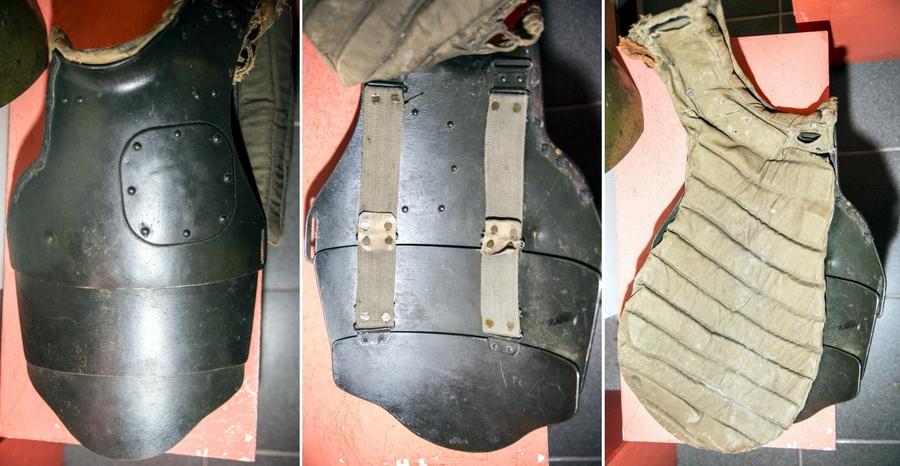СН-38 тяжёлого типа из трёх частей с подтулейным устройством первого типа, сохранившийся в коллекции музея каски, г. Лысьва - Стальная броня для красноармейца: рождение | Военно-исторический портал Warspot.ru