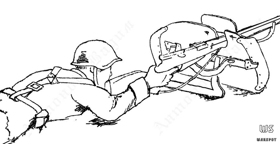 Модернизированный СН-40 в положении для стрельбы лёжа (РГВА) - Стальная броня для красноармейца: от советско-финской к Великой Отечественной | Военно-исторический портал Warspot.ru