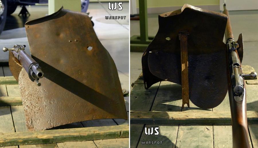 Нагрудник МИС, установленный как щиток для стрельбы лёжа - Стальная броня для красноармейца: массовый СН-42 и его конкуренты | Военно-исторический портал Warspot.ru