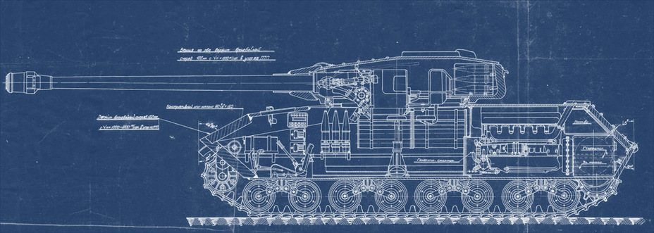 ​Cross section of the Object 257, June 5th, 1945 - Object 257: The First IS-7 | Warspot.ru