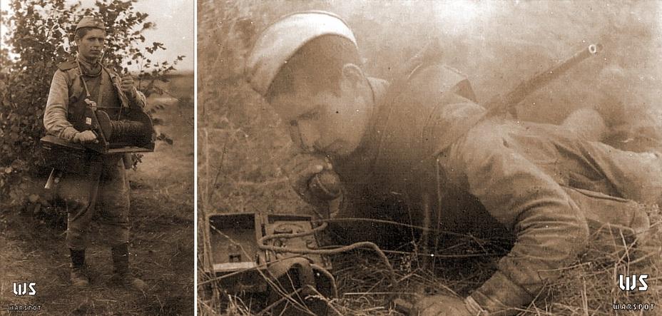 Работа связиста в нагруднике СН-42, 1944 год (ЦАМО) - Стальная броня для красноармейца: закат эпохи нагрудников | Военно-исторический портал Warspot.ru