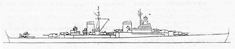 Лёгкий крейсер проекта 65 (вариант с девятью 152-мм орудиями) Источник: otvaga2004 - «Белый слон» Сталина | Военно-исторический портал Warspot.ru