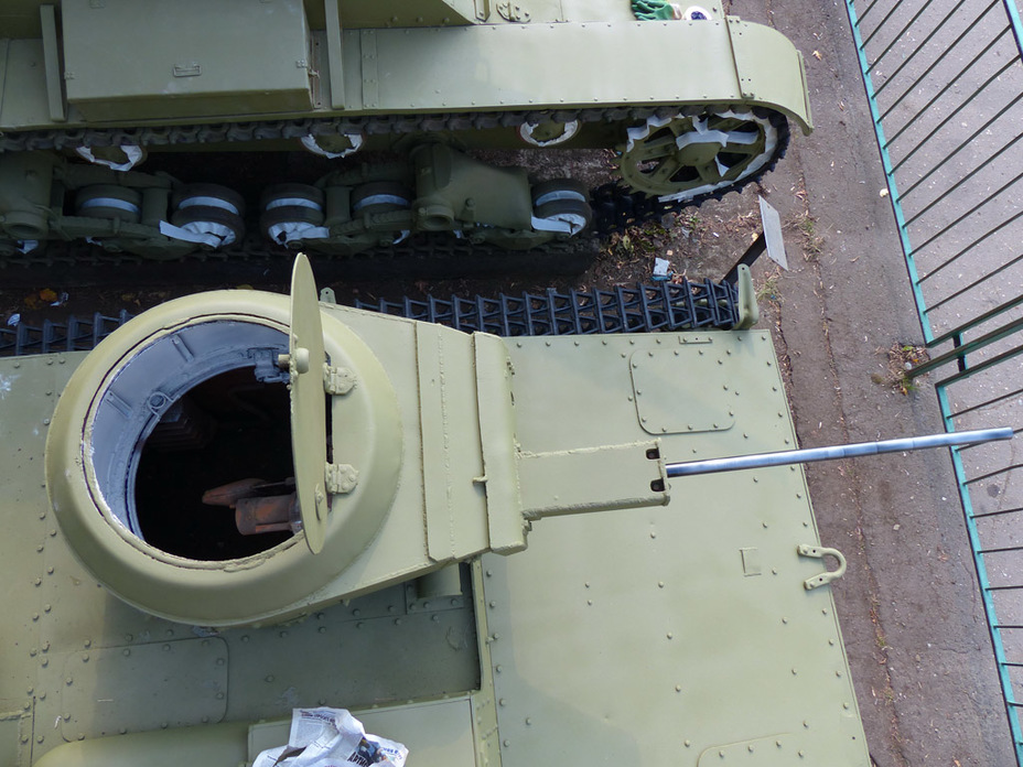Top view of tower - Metamorphoses of amphibian reconnaissance    Military historical portal Warspot.ru