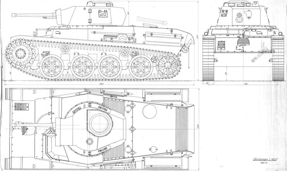 Схема серийного Landsverk L-60