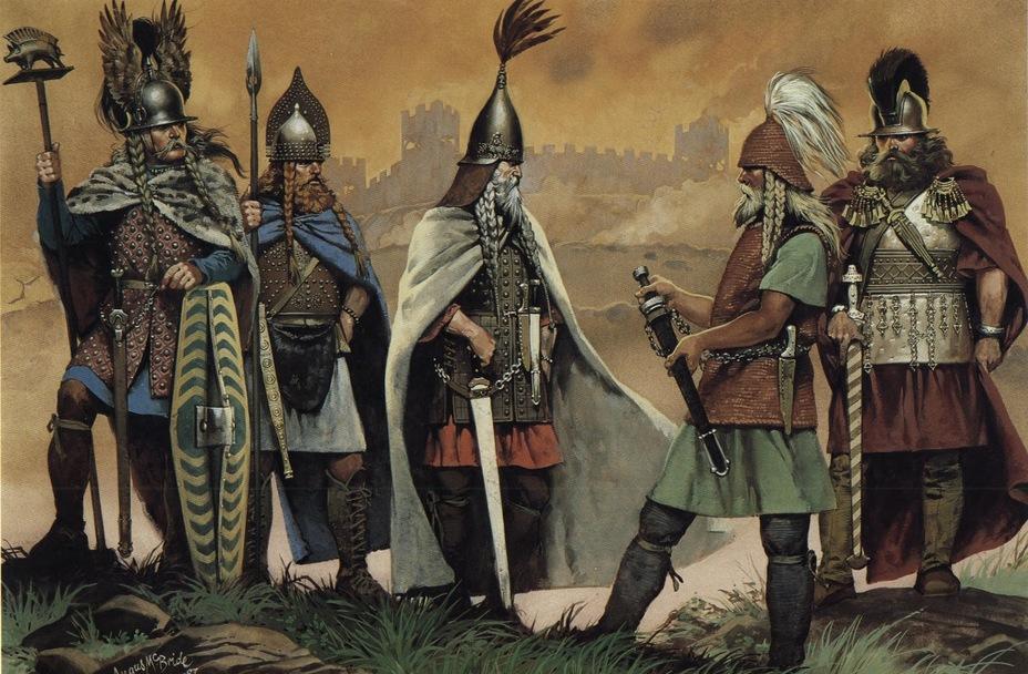 Кельтские вожди с оружием и снаряжением галльштаттской и ранне-латенской эпохи - Кельты: появление на исторической арене | Warspot.ru