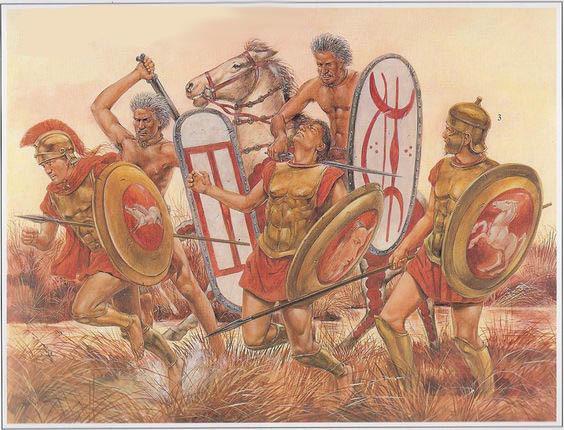Галлы побеждают римлян в битве при Аллии в 387 году до н.э. - Кельты: первые столкновения с Римом | Warspot.ru