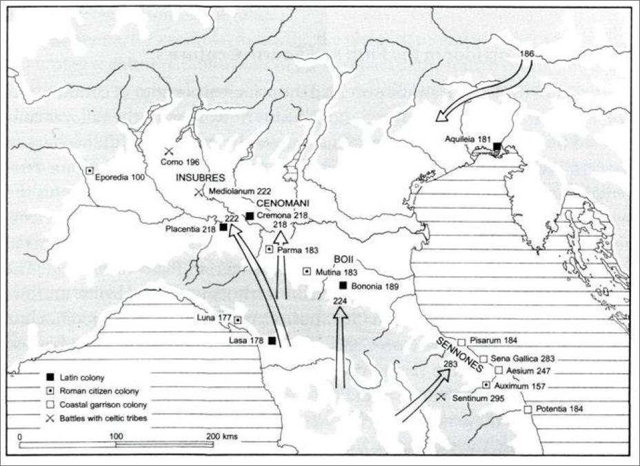 Покорение римлянами Цизальпинской Галлии в 224–222 и в 200–191 годах до н.э. - Кельты:Римское завоевание Цизальпинской Галлии | Warspot.ru