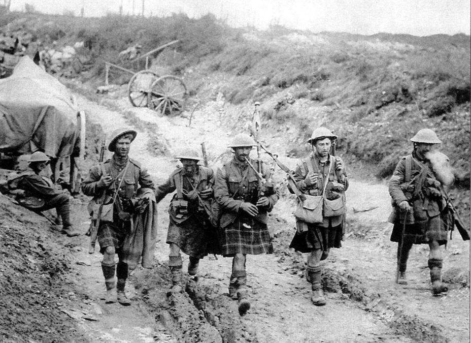 Сифурсткие горцы на Сомме, июль 1916 года