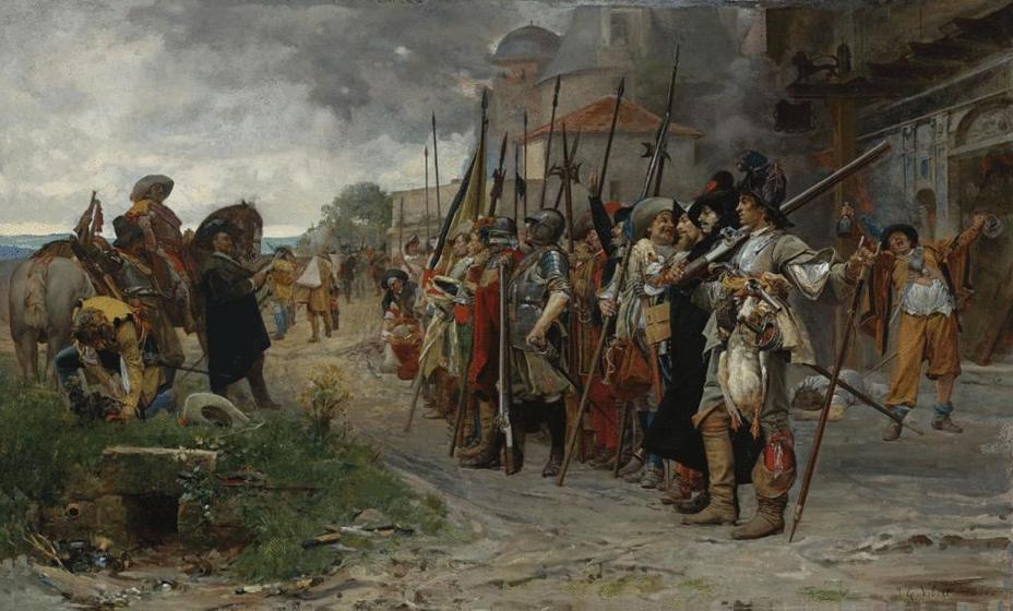 Европейские армии XVI–XVII веков часто представляли собой весьма пёстрое смешение людей, одежды и вооружения