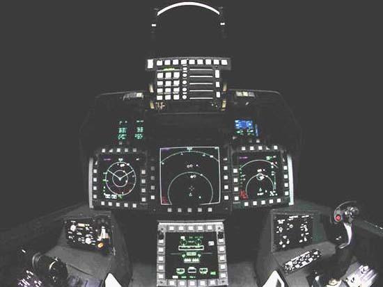 Кабина пилота истребителя F-22. avionale.com - Британцы оцифруют «Хищника» | Военно-исторический портал Warspot.ru