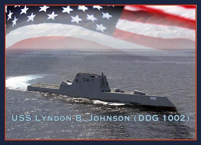 Компьютерная модель эсминца Lyndon B. Johnson navyrecognition.com - Третий Zumwalt — на подходе | Военно-исторический портал Warspot.ru