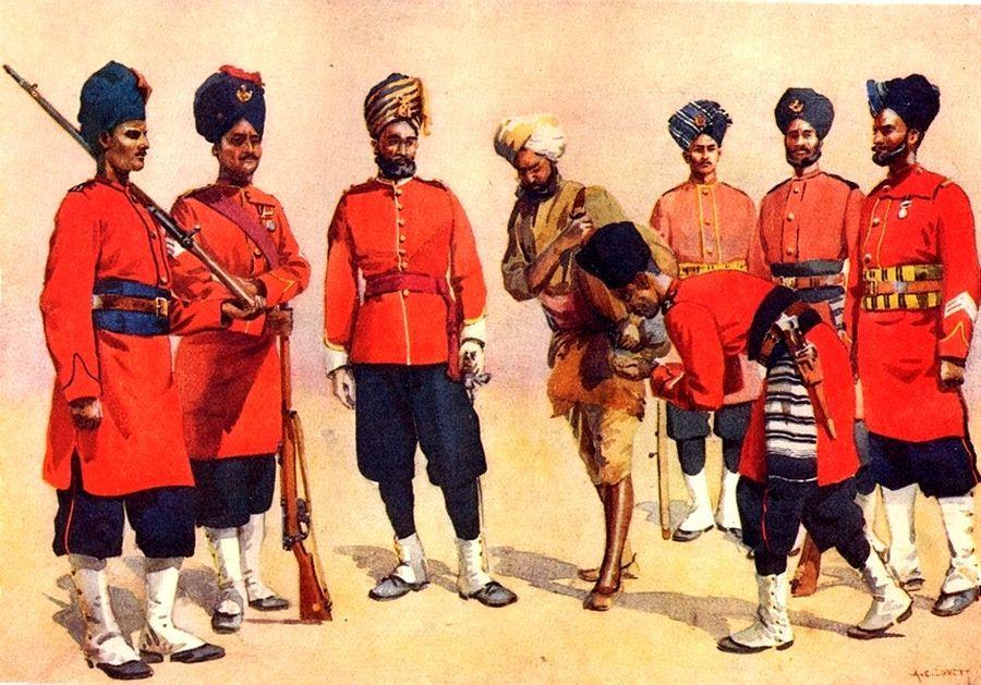 Раджпутская пехота британской Индийской армии, XIX век