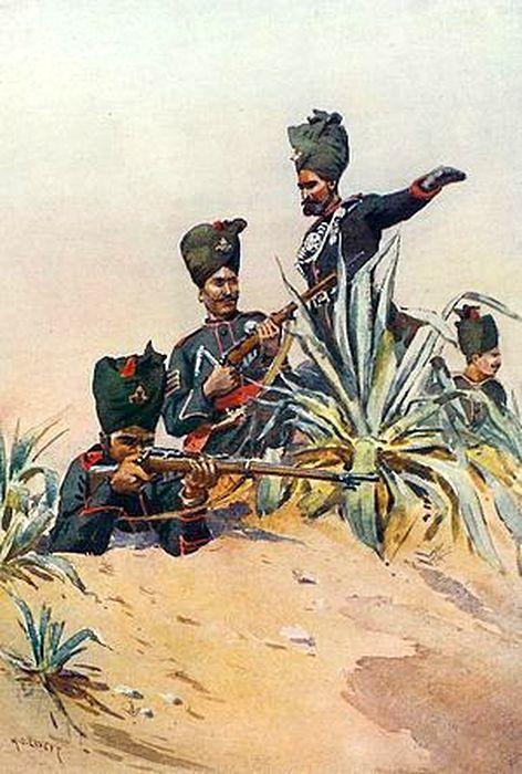 Раджпутанские стрелки, начало ХХ века