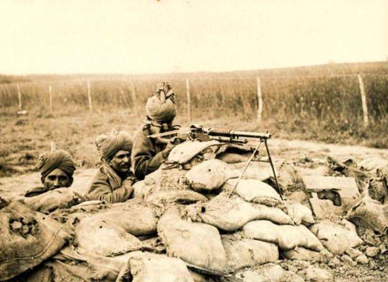 Бойцы 2-го полка Раджпутской лёгкой пехоты во Фландрии, 1916 год
