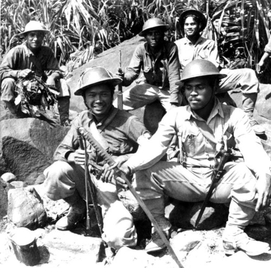 Бойцы 7-го Раджпутского полка в Бирме, 1944 год