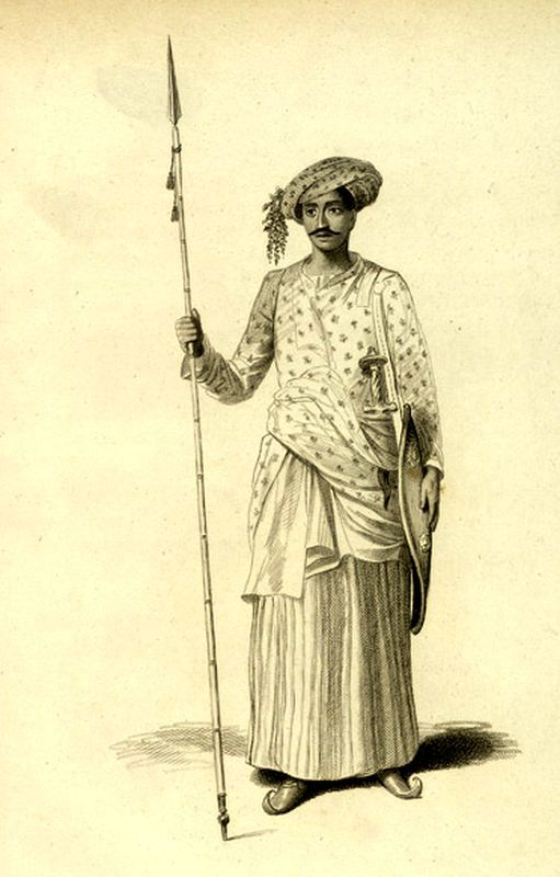Маратхский воин, конец XVIII века