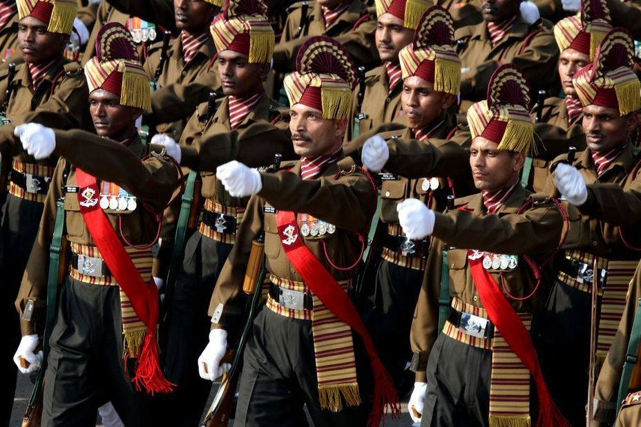 Махарский полк на параде, 2013 год