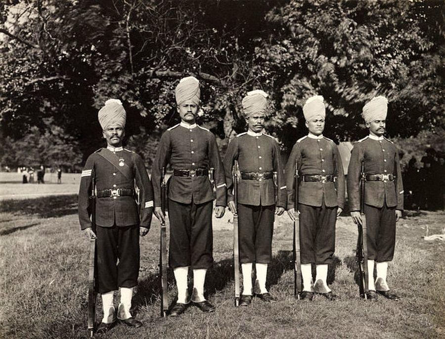 Солдаты 2-го батальона Бомбейских гренадеров, 1920-е годы