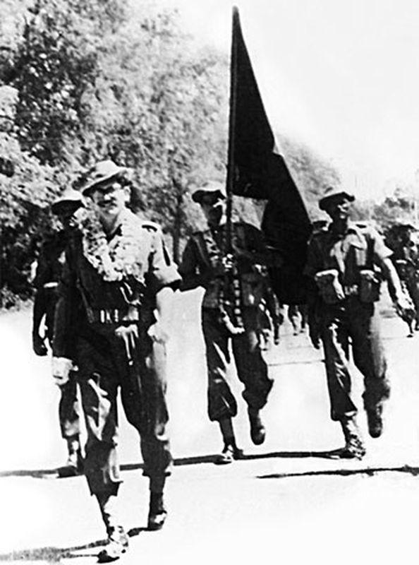 Подполковник Хайд во вглаве джатов входит в Дограи, 1965 год