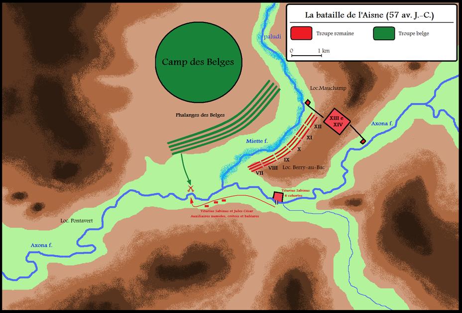 Схема сражения у Аксоны - Битвы кельтов: интерактивный спецпроект Warspot | Warspot.ru