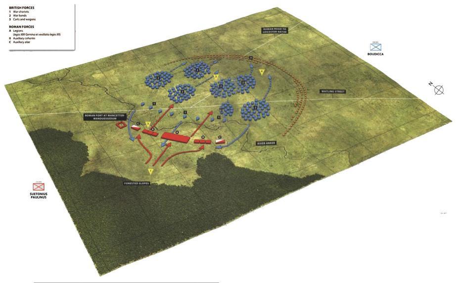 Схема сражения при Уотлинг-Стрит - Битвы кельтов: интерактивный спецпроект Warspot | Warspot.ru