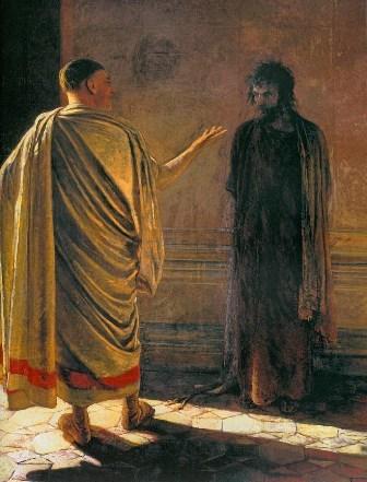 Н. Н. Ге, «Что есть истина?» Христос и Пилат (1890)
