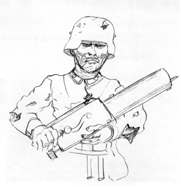 «Как я выглядел, когда был солдатом», 1924 год. Рисунок Отто Дикса, созданный во время работы над циклом «Война». Источник: deutsche-digitale-bibliothek.de