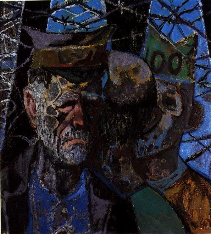 «Автопортрет военнопленного», 1947 год. Усталый и подавленный Дикс в 1945 году. Источник: wikiart.org