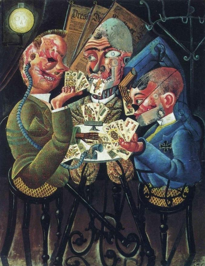 «Игроки в скат», 1920 год. Источник: wikiart.org