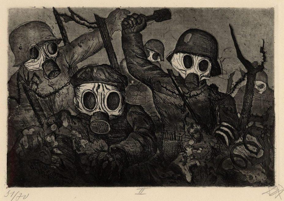 «Штурмовая группа в газовом облаке»