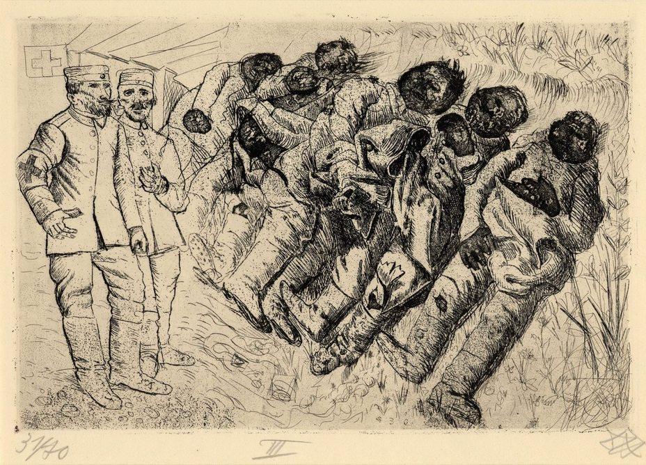 «Отравленные газом. Тамлё-ла-Фос, август 1916 года»