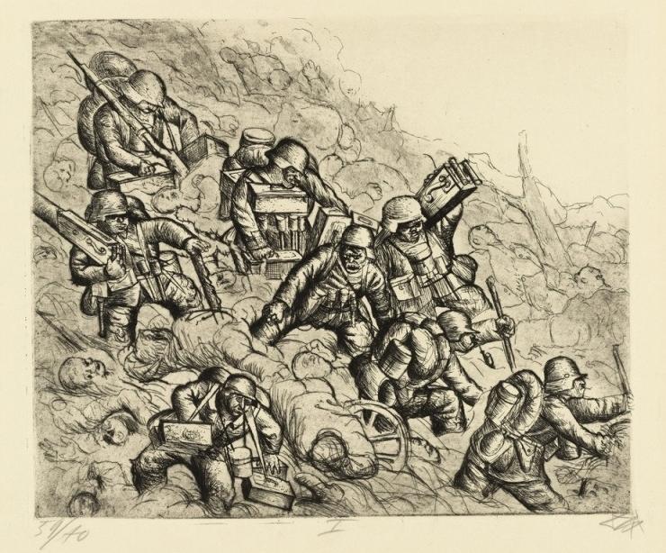 «Пулемётный отряд в наступлении. Сомма, ноябрь 1916 года»